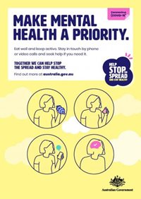 Australian Government COVID-19 mental health poster